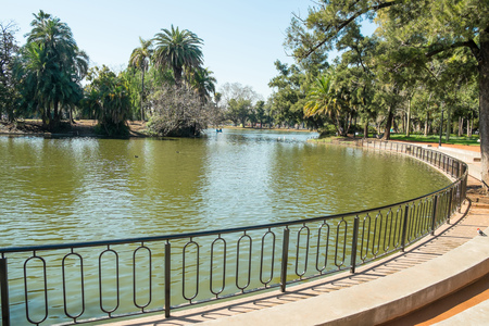 urban scenics: Downtown Buenos Aires parks in the Palermo neighborhood known as Palermo Woods