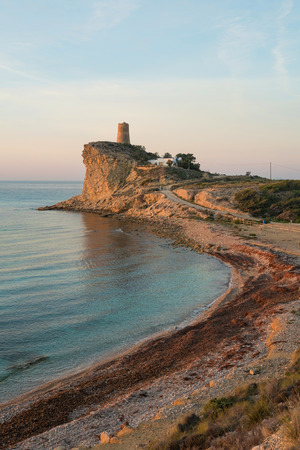 secluded: Early morning view of a secluded bay on Costa Blanca, Spain