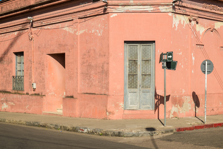 old town house: Old town house facade in Carmelo, Uruguay