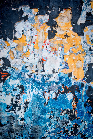 patched: Full frame take of a wall  patched with  textures and colors