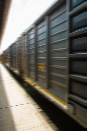 freight train: Freight train carriages speeding by