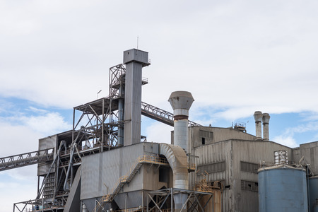Large industrial plant made of metal