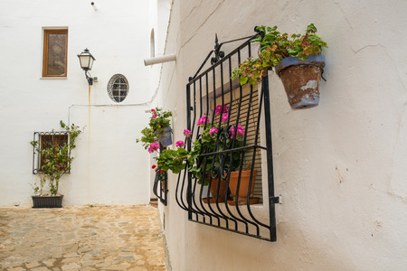andalusian: Traditional Andalusian architecture in Mojacar old town, Andalusia, Spain