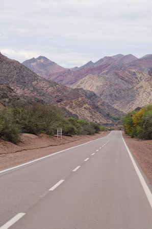 Andean road surrounded by high peaks, Salta, Argentina