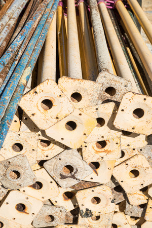 struts: Full frame take of a pile of struts