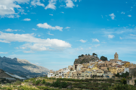 hilltop: Charming hilltop old town Polop, Costa Blanca, Spain