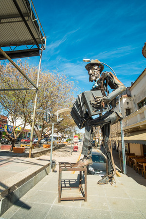bandoneon: LA FALDA, ARGENTINA- AUGUST 24, 2015:  La Falda  monument to Tango. The Argentinian town hosts a major yearly tango festival. Editorial