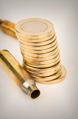 white collar crime: Bullet shell, an organised and financial crime concept