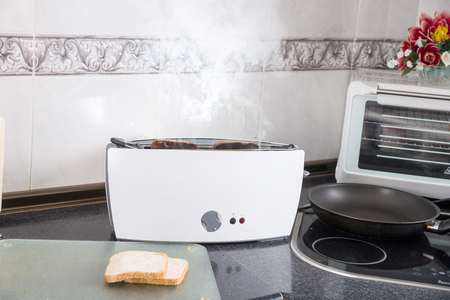 wrong: Toasting sandwich bread slices gone wrong