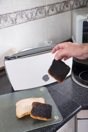 spoilt: Toasting sandwich bread slices gone wrong