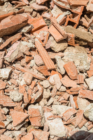 demolish: Full frame take of demolition rubble