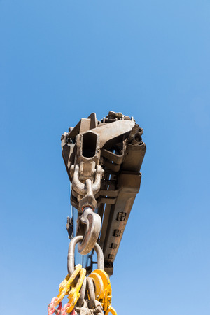 machinery space: Arm of a large crane Stock Photo
