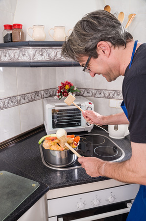spoilt: The wrong way of preparing a stew Stock Photo