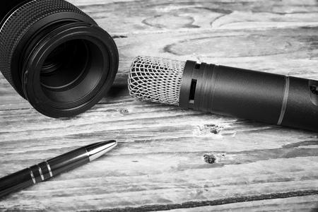 needed: Still life with tools needed for an interview