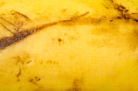 mottled skin: Closeup take of banana peel texture