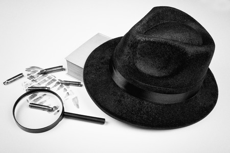 Still life with a mystery genre concept Stock Photo