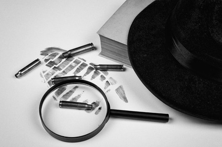 organized crime: Still life with a mystery genre concept Stock Photo