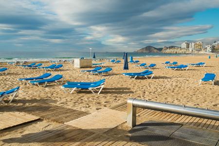 blanca: Footwash on Benidorm beach, Costa Blanca, Spain