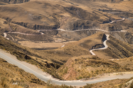 mountain pass: Andean mountain pass road in Salta, Argentina Stock Photo