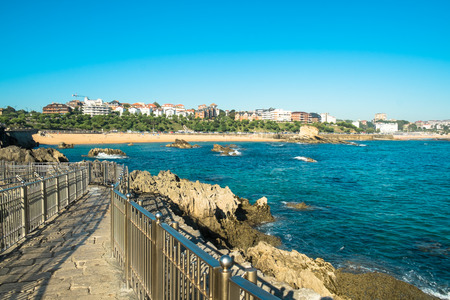 The town of  Santander and its bay as seen from one of its viewpoints