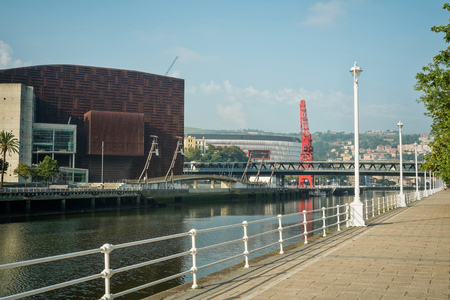 the basque country: Bilbao industrial riverside promenade, Basque Country, Spain