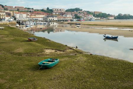 traditonal: San Vicente de la Barquera traditional fishing harbor at low tide, Santander, Spain