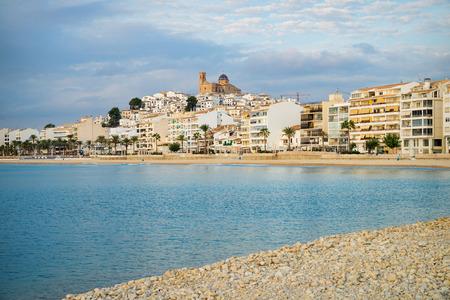 blanca: Sunny early morning on Spanish  Mediterranean resort town of Altea, Costa Blanca