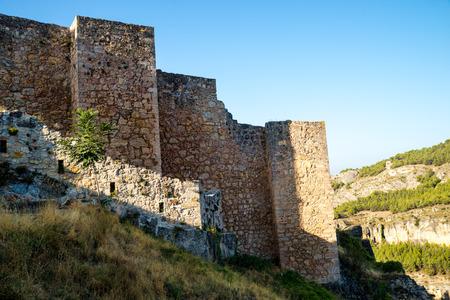 mancha: Cuenca Castle  sitting atop Jucar river canyon, Castillla La Manca, Spain
