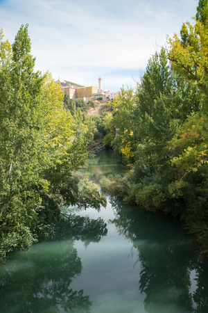 mancha: Cuenca old town as seen from Jucar river