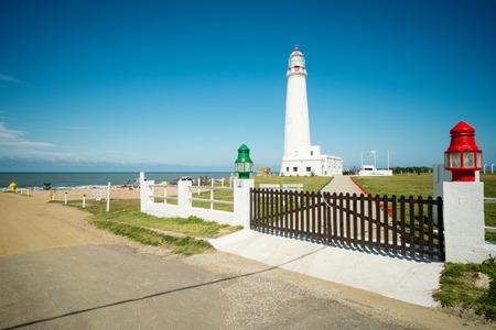 La Paloma  whitewashed lighthouse, Uruguay, South America
