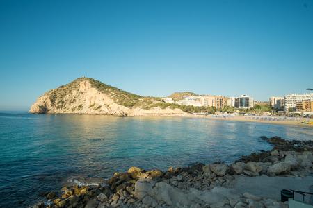 Cala de Finestrat, an extension of Benidorm beach resort, Costa Blanca, Spain