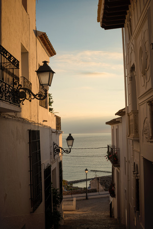 blanca: Scenic Altea old town location, Costa Blanca, Alicante, Spain