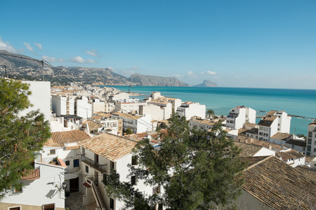 Altea old town, a popular Mediterranean resort on Costa Blanca, Spain