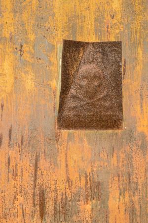 Full frame take of a sheet of oxidized metal Stock Photo