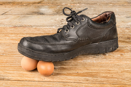 Walking on eggshells, a concept about care and delicate matters
