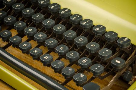 Detail take of an old typewriter keyboard