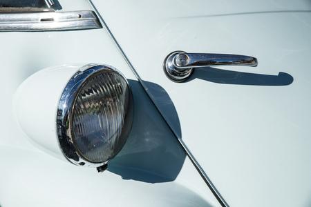 Detail take of a vintage car headlight Stock Photo