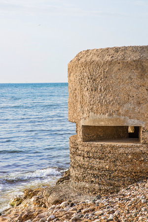 Spanish civil war coastal bunker on Alicante coaset Stock Photo