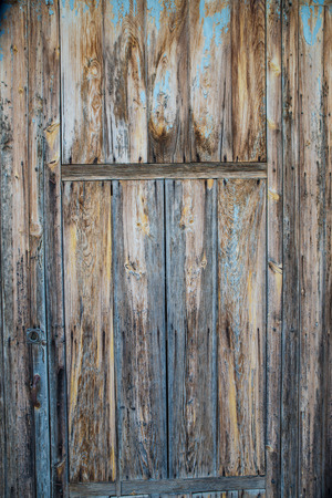 Weathered wood on an old door