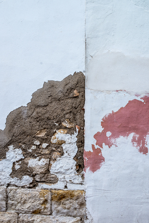 Full frame of decaying wall plaster