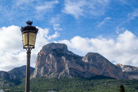 Landmark Costa Blanca Ponoig mountain as seen from Polop