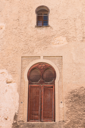 Old peeling wall on a Mediterranean facade