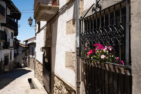 Candelario old town in the heart of  Salamanca, Castilla y Leon