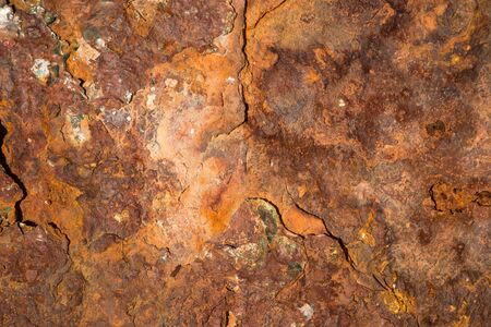 Metal sheet in a very bad and rusty condition Imagens
