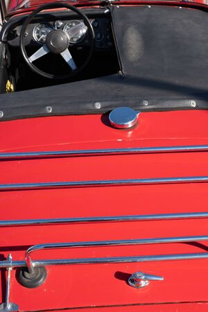 Classic car luggage rack Imagens