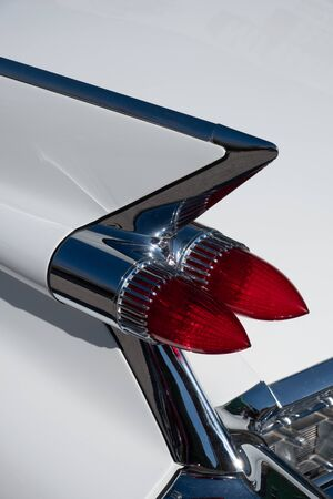 Tail light of a vintage car Imagens