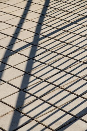 Metal bars on a construction site