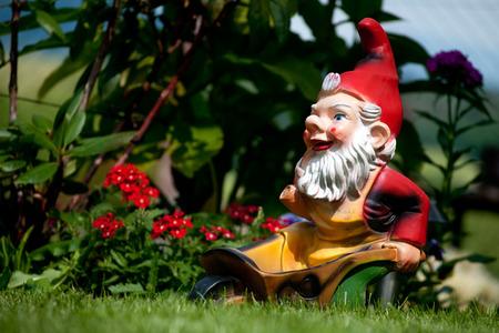dwarf on garden