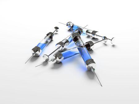 Injection, syringe, medicine Stock Photo