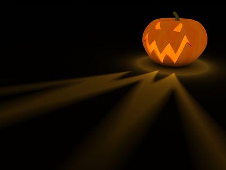 Traditional pumpkin on Halloween photo